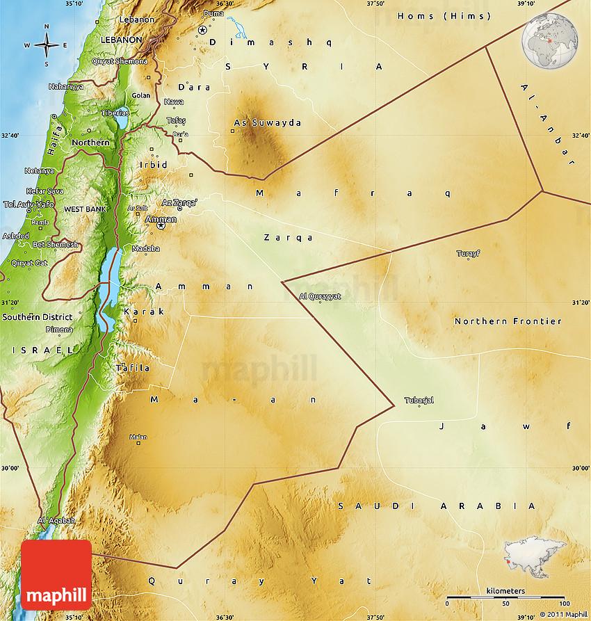 Physical Map of Jordan on jordan asia, jordan and israel map, north korea map, middle east map, liberia map, jordan religion map, jordan middle east, jordan river utah map, jordan capital on map, jordan river valley map, jordan location on world map, jordan river on map,