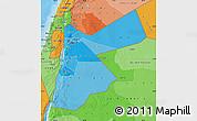 Political Shades Map of Jordan