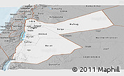 Gray Panoramic Map of Jordan
