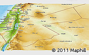 Physical Panoramic Map of Jordan