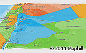 Political Shades Panoramic Map of Jordan