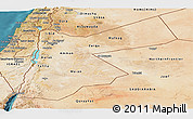 Satellite Panoramic Map of Jordan