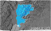 Political 3D Map of Salt (Balqa), darken, desaturated