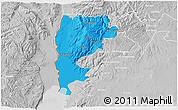 Political 3D Map of Salt (Balqa), lighten, desaturated