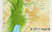 Physical Map of Salt (Balqa)