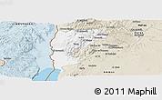 Classic Style Panoramic Map of Salt (Balqa)