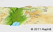 Physical Panoramic Map of Salt (Balqa)