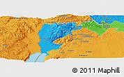 Political Panoramic Map of Salt (Balqa)