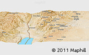 Satellite Panoramic Map of Salt (Balqa)