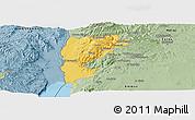 Savanna Style Panoramic Map of Salt (Balqa)