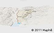 Shaded Relief Panoramic Map of Salt (Balqa), lighten