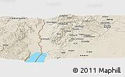 Shaded Relief Panoramic Map of Salt (Balqa)