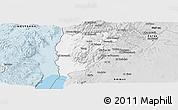 Silver Style Panoramic Map of Salt (Balqa)