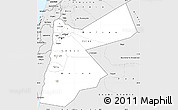Silver Style Simple Map of Jordan
