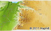 Physical 3D Map of Tafila