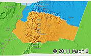 Political 3D Map of Tafila