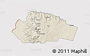 Shaded Relief 3D Map of Tafila, cropped outside