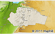 Shaded Relief 3D Map of Tafila, physical outside