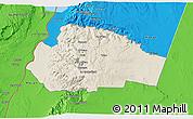Shaded Relief 3D Map of Tafila, political outside