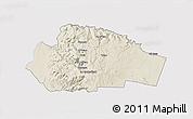Shaded Relief 3D Map of Tafila, single color outside