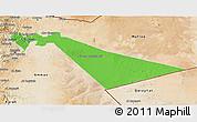 Political 3D Map of Zarqa, satellite outside