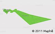 Political 3D Map of Zarqa, single color outside