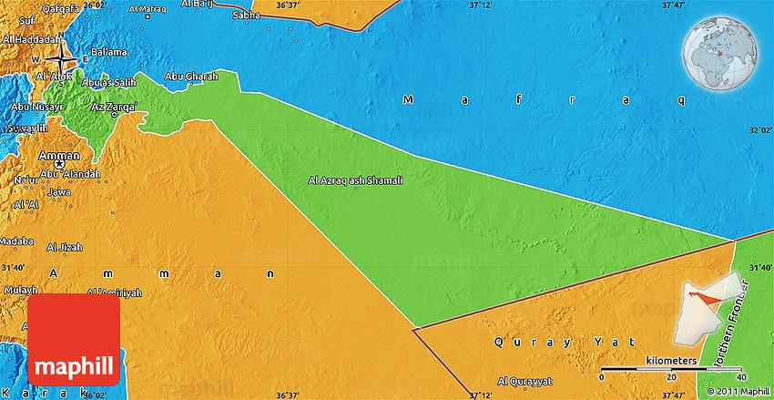 Political Map Of Zarqa