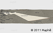 Shaded Relief Panoramic Map of Zarqa, darken