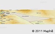 Shaded Relief Panoramic Map of Zarqa, physical outside