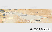 Shaded Relief Panoramic Map of Zarqa, satellite outside