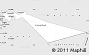 Silver Style Simple Map of Zarqa