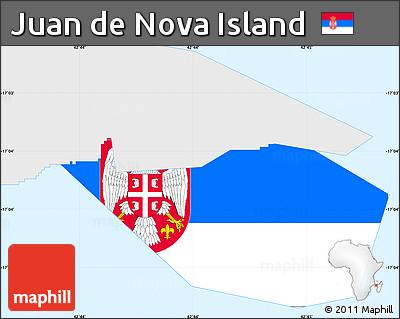 Flag Simple Map... Juan De Nova Island