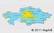 Flag 3D Map of Kazakhstan