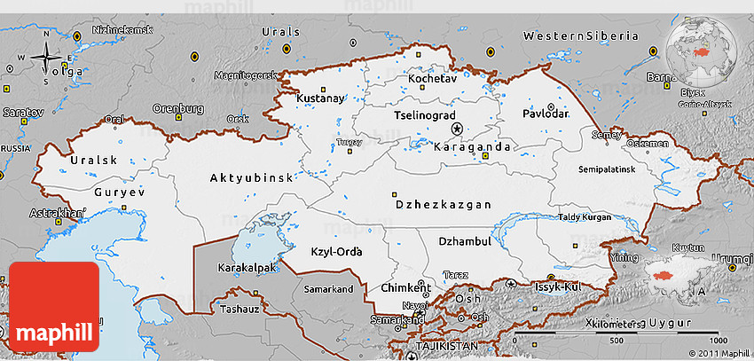Gray 3d map of kazakhstan 2d gumiabroncs Choice Image