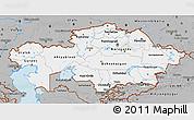 Gray 3D Map of Kazakhstan