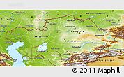 Physical 3D Map of Kazakhstan