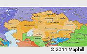 Political Shades 3D Map of Kazakhstan