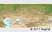 Satellite 3D Map of Kazakhstan