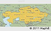 Savanna Style 3D Map of Kazakhstan