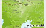 Physical 3D Map of Aktyubinsk