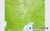Physical Map of Aktyubinsk