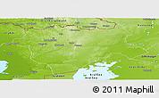 Physical Panoramic Map of Aktyubinsk