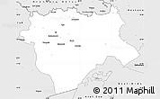 Silver Style Simple Map of Aktyubinsk
