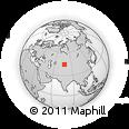 Outline Map of Alma-Ata