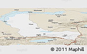 Classic Style Panoramic Map of Alma-Ata