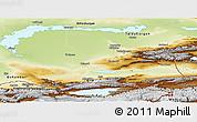 Physical Panoramic Map of Alma-Ata