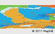 Political Panoramic Map of Alma-Ata