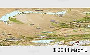 Satellite Panoramic Map of Alma-Ata