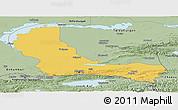 Savanna Style Panoramic Map of Alma-Ata