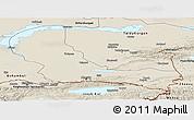 Shaded Relief Panoramic Map of Alma-Ata